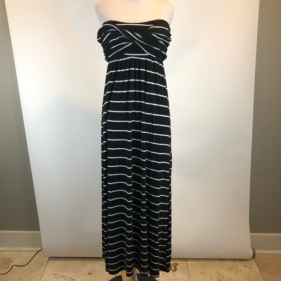 Gibson Latimer Dresses & Skirts - Gibson Latimer Striped Strapless Maxi Dress SZ L